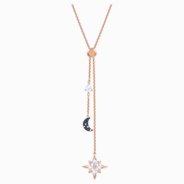 Swarovski Symbolic Y Necklace, Multi-colored, Rose-gold tone plated - Swarovski, 5494357