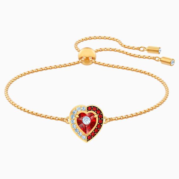 Bracelet Black Baroque, rouge, Métal doré - Swarovski, 5494500
