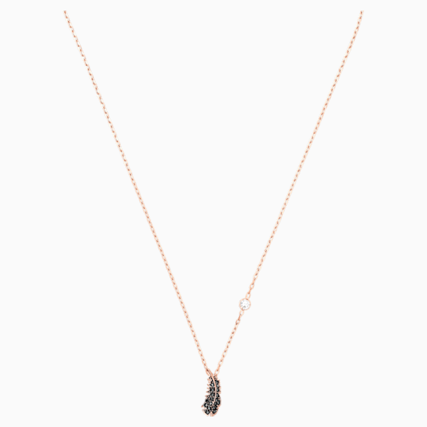 Naughty Necklace, Black, Rose-gold tone plated - Swarovski, 5495292