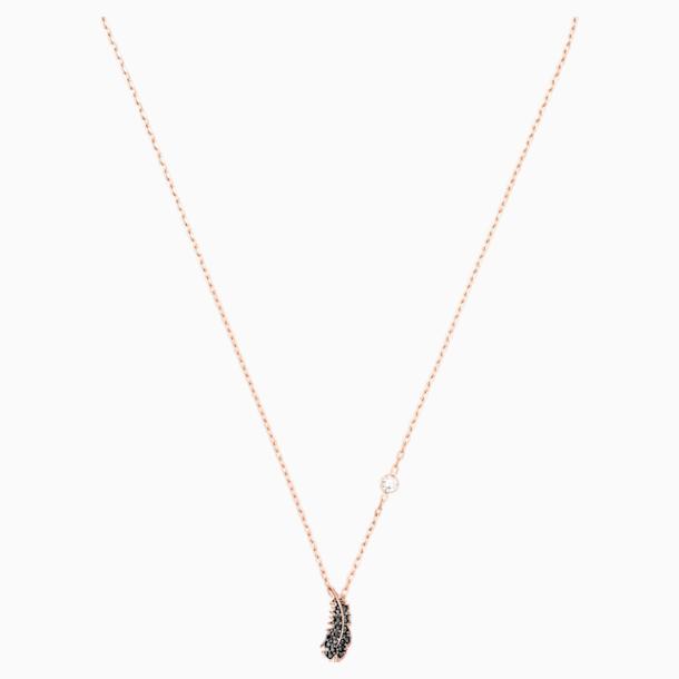 Naughty 项链, 黑色, 镀玫瑰金色调 - Swarovski, 5495292