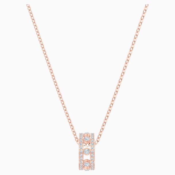 My Hero Pendant, White, Rose-gold tone plated - Swarovski, 5495496