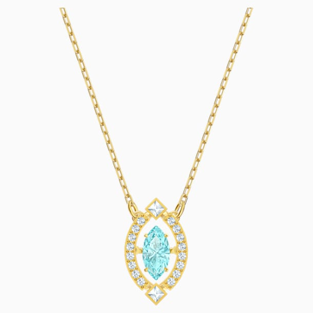 Swarovski Sparkling Dance Necklace, Green, Gold-tone plated - Swarovski, 5497474