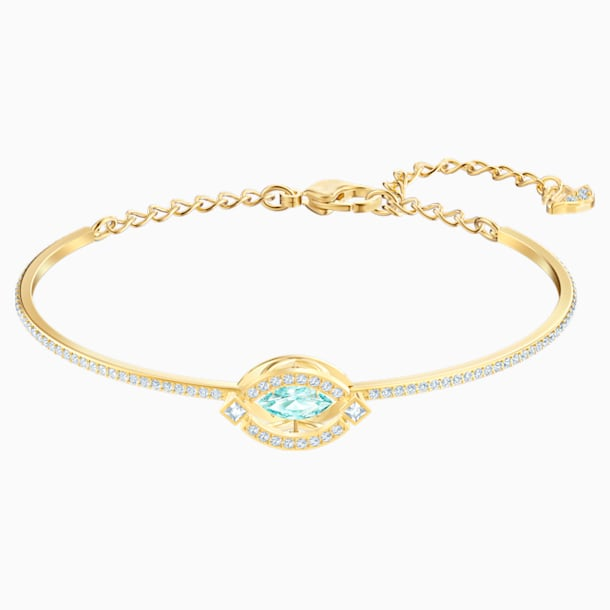 Swarovski Sparkling Dance Bangle, Green, Gold-tone plated - Swarovski, 5497476