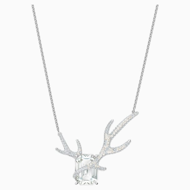 Polar Bestiary Necklace, Multi-colored, Rhodium plated - Swarovski, 5497638