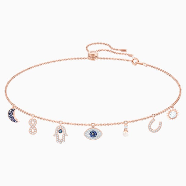 Swarovski Symbolic Necklace, Multi-colored, Rose-gold tone plated - Swarovski, 5497664