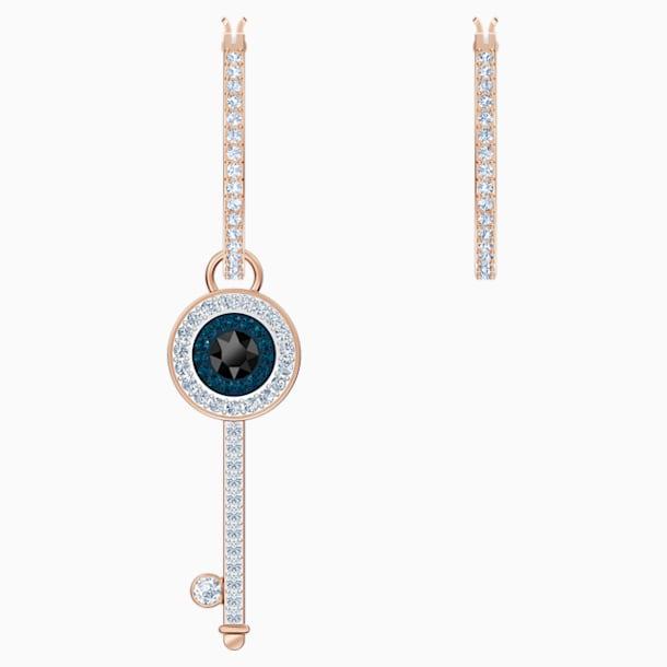 Τρυπητά σκουλαρίκια κρίκοι Swarovski Symbolic, πολύχρωμα, με επικάλυψη χρυσής ροζ απόχρωσης - Swarovski, 5497667