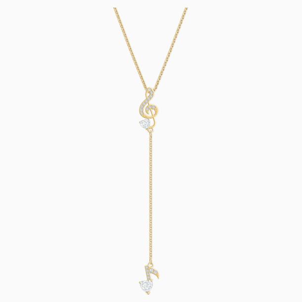 Collier en Y Pleasant, blanc, Métal doré - Swarovski, 5497885