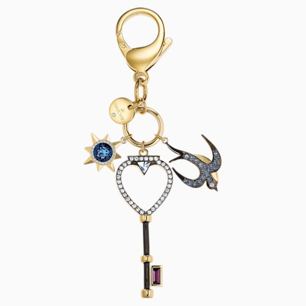 Tarot Swallow Bag Charm, Multi-colored - Swarovski, 5498748