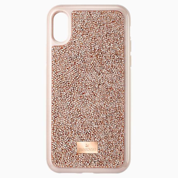 Glam Rock-smartphone-hoesje, iPhone® X/XS, roségoudkleurig - Swarovski, 5498749
