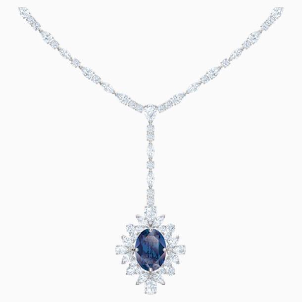 Palace Y Necklace, Blue, Rhodium plated - Swarovski, 5498812