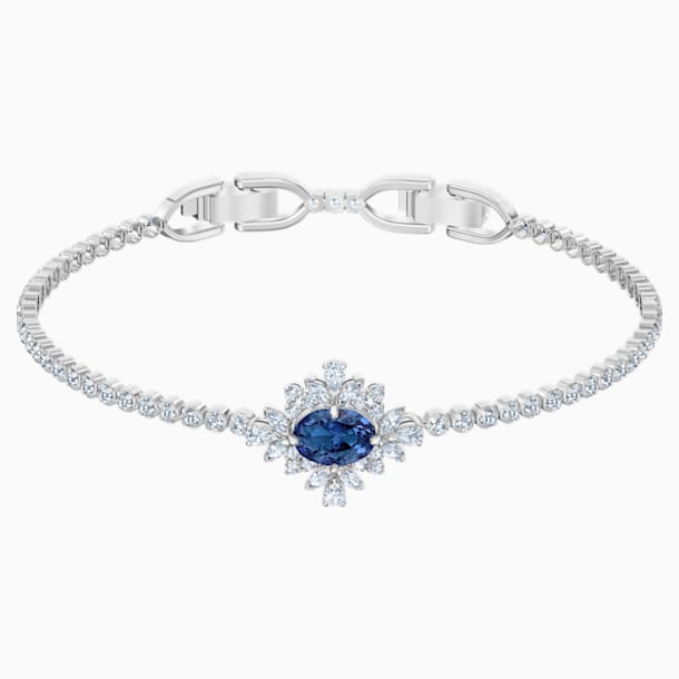 Palace Bracelet, Blue, Rhodium plated - Swarovski, 5498834