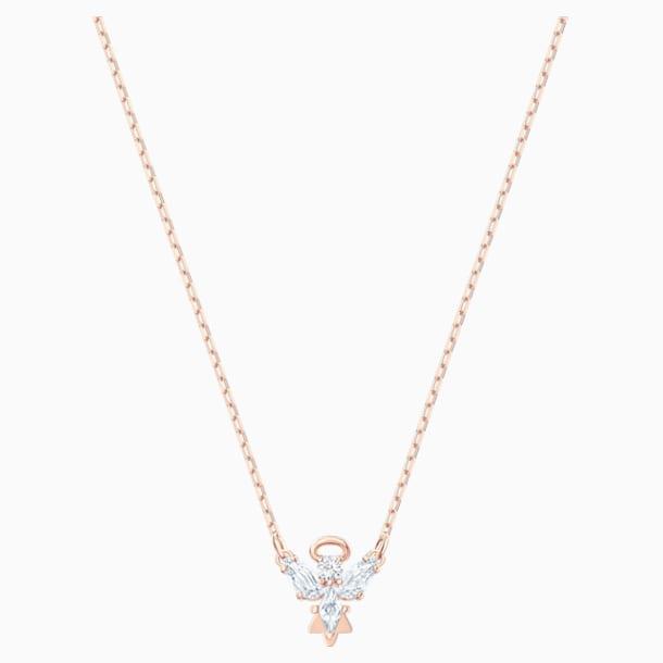 Náhrdelník Magic Angel, Bílý, Pozlacený růžovým zlatem - Swarovski, 5498966