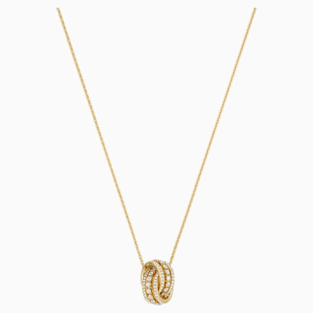 Further Necklace, White, Gold-tone plated - Swarovski, 5498997