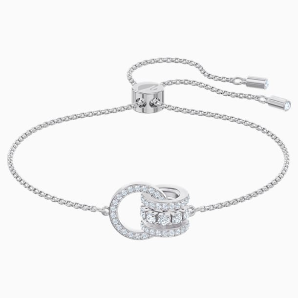 Further Bracelet, White, Rhodium plated - Swarovski, 5498999