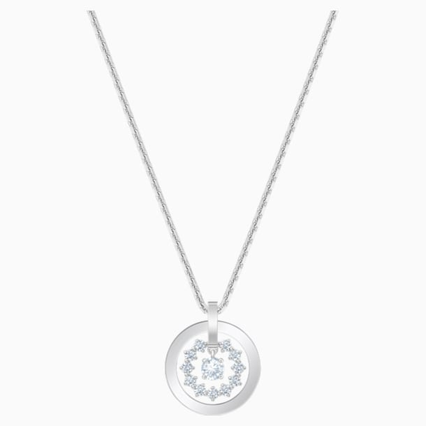Further Necklace, White, Rhodium plated - Swarovski, 5499001