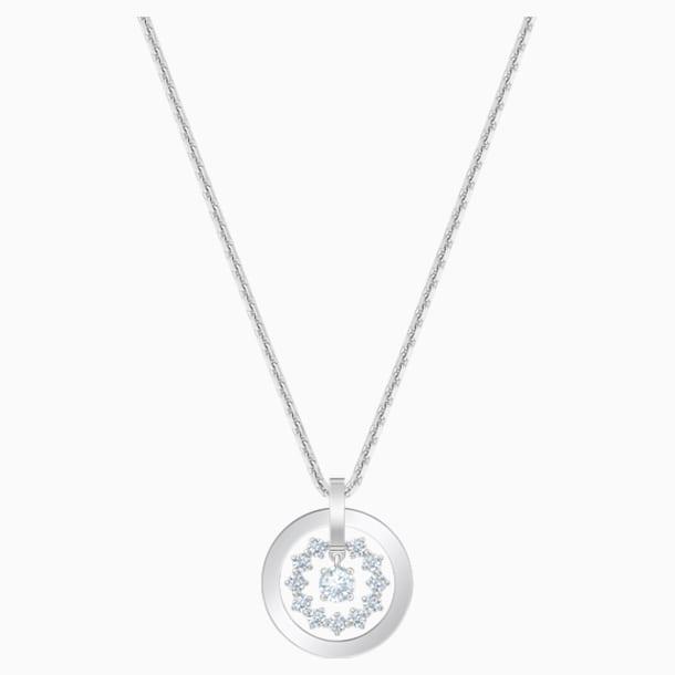 Further Necklace, White, Rhodium plated - Swarovski, 5499001