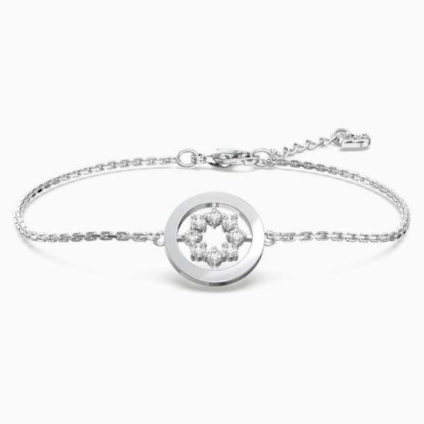 Bracelet Further Circle, blanc, Métal rhodié - Swarovski, 5499003