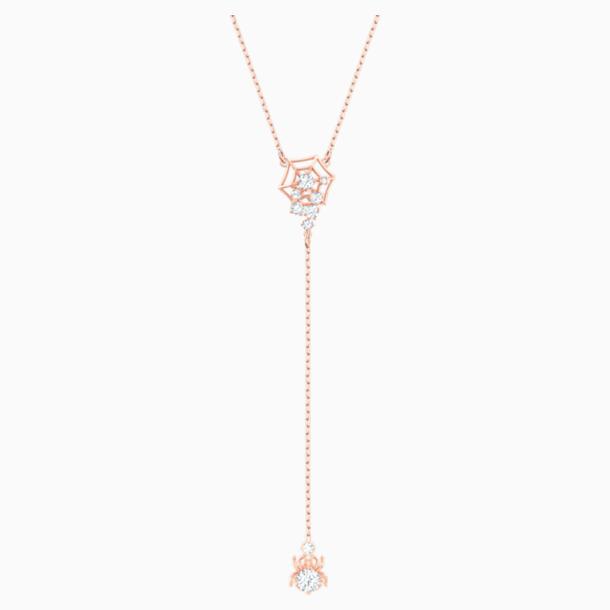 Collier en Y Precisely, blanc, Métal doré rose - Swarovski, 5499885