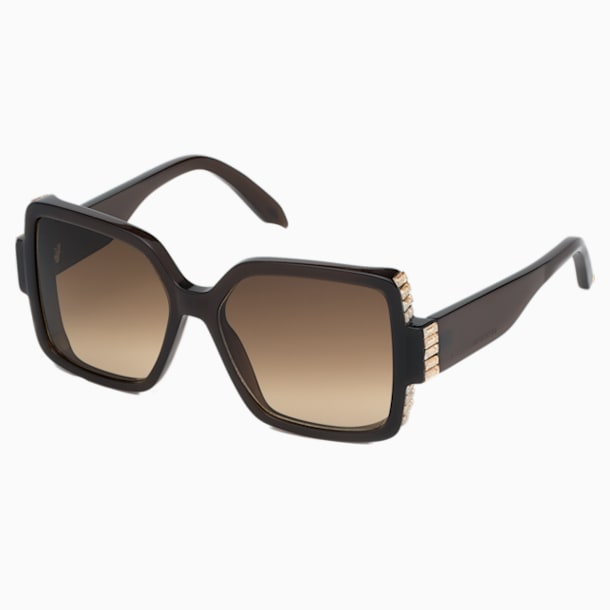 Fluid Square Sunglasses, SK237-P 36F, Brown - Swarovski, 5500205