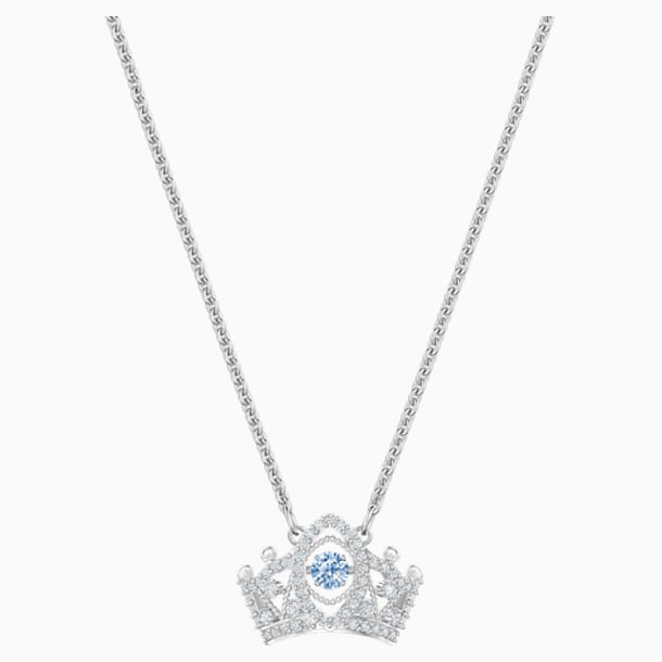 Bee A Queen Pendant, Blue, Rhodium plated - Swarovski, 5501080