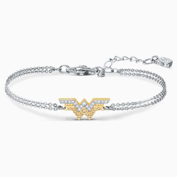 Fit Wonder Woman Bracelet, Gold tone, Mixed metal finish - Swarovski, 5502311