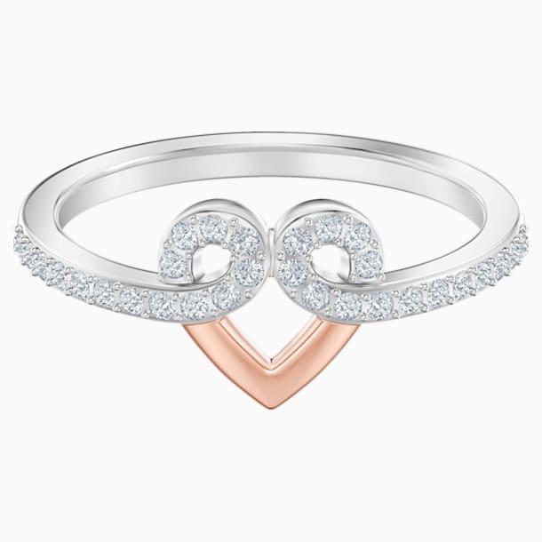 My Hero 圖形戒指, 白色, 多種金屬潤飾 - Swarovski, 5502940