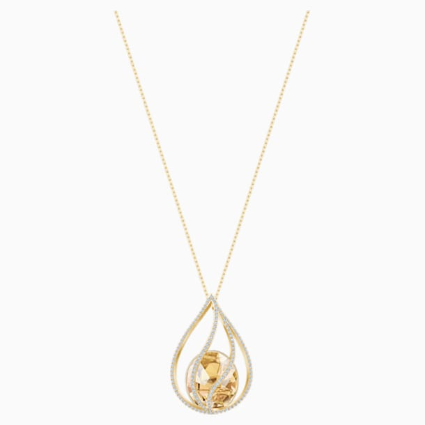 Energic Necklace, Brown, Gold-tone plated - Swarovski, 5502947