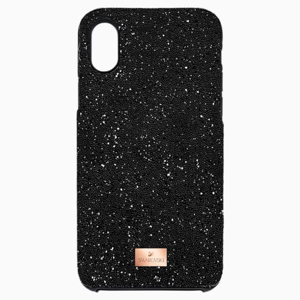 Coque rigide pour smartphone avec cadre amortisseur intégré High, iPhone® X/XS, noir - Swarovski, 5503550