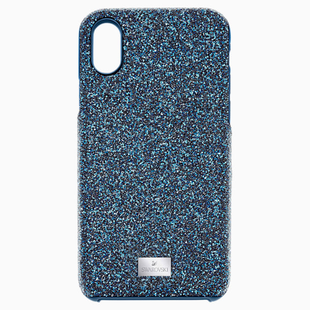 Coque rigide pour smartphone avec cadre amortisseur intégré High, iPhone® X/XS, bleu - Swarovski, 5503551