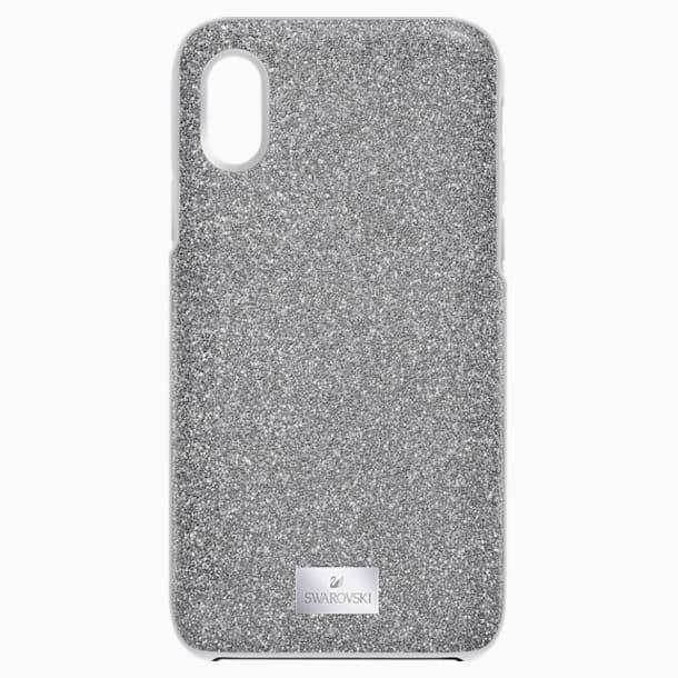 Coque rigide pour smartphone avec cadre amortisseur intégré High, iPhone® X/XS, ton argenté - Swarovski, 5503552