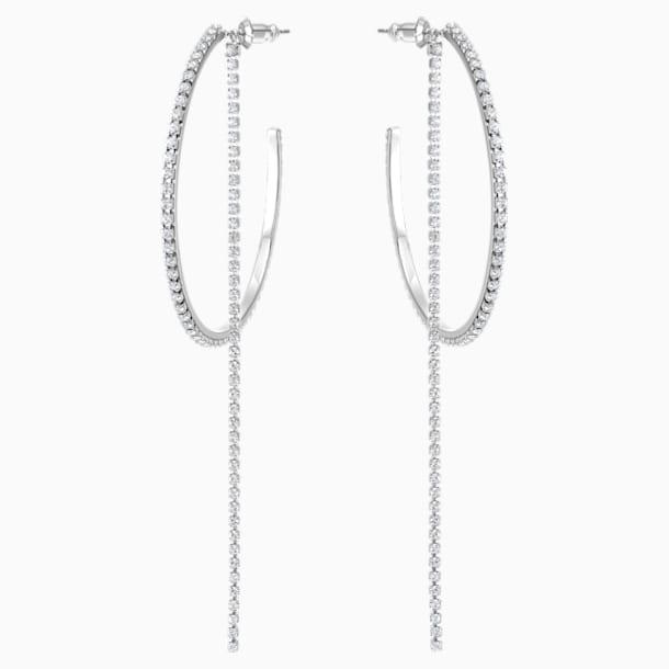 Fit Серьги-обручи, Белый Кристалл, Нержавеющая сталь - Swarovski, 5504570