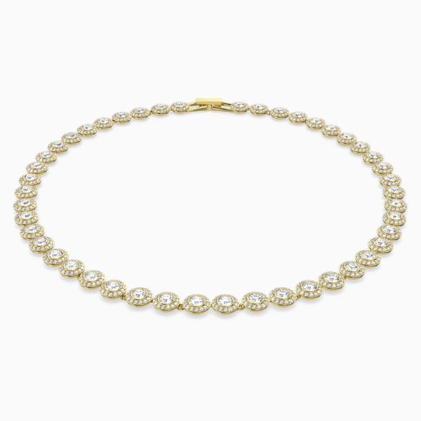 Angelic 項鏈, 白色, 鍍金色色調 - Swarovski, 5505468