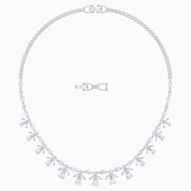 Palace Necklace, White, Rhodium plated - Swarovski, 5505495