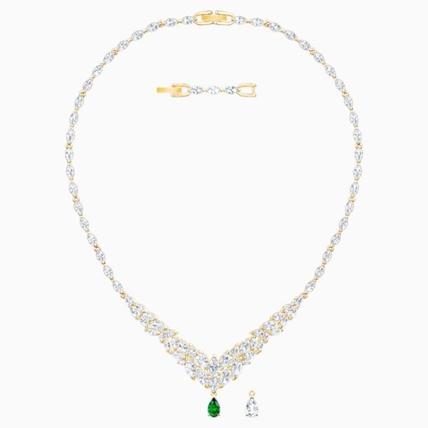 Louison 項鏈, 白色, 鍍金色色調 - Swarovski, 5505862