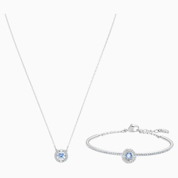 Swarovski Sparkling Dance Set, Blue, Rhodium plated - Swarovski, 5506386
