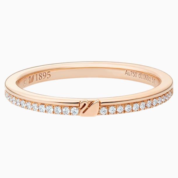玲珑天鹅18K玫瑰金钻石戒指 - Swarovski, 5506550