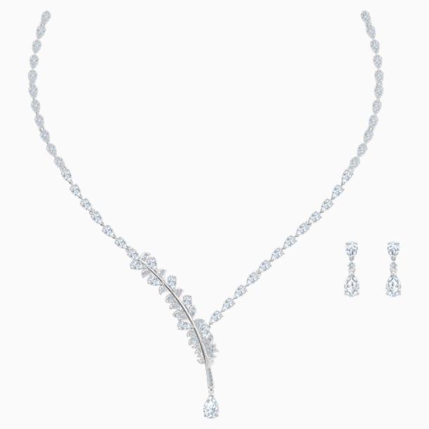 Nice szett, fehér, ródium bevonattal - Swarovski, 5506752