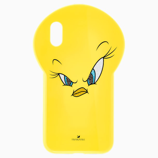 Looney Tunes 트위티 스마트폰 케이스, iPhone® XR, 옐로우 - Swarovski, 5507271