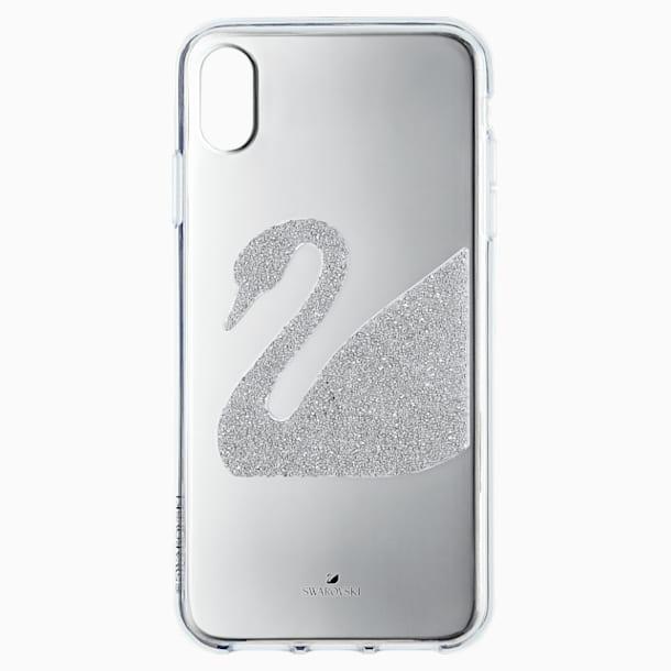 Funda para smartphone Swan, iPhone® XS Max, gris - Swarovski, 5507383