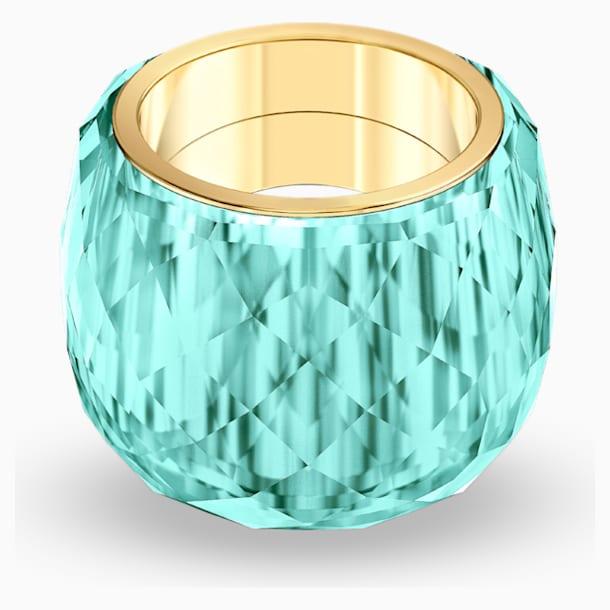Bague Swarovski Nirvana, aiguemarine turquoise, PVD doré - Swarovski, 5508716