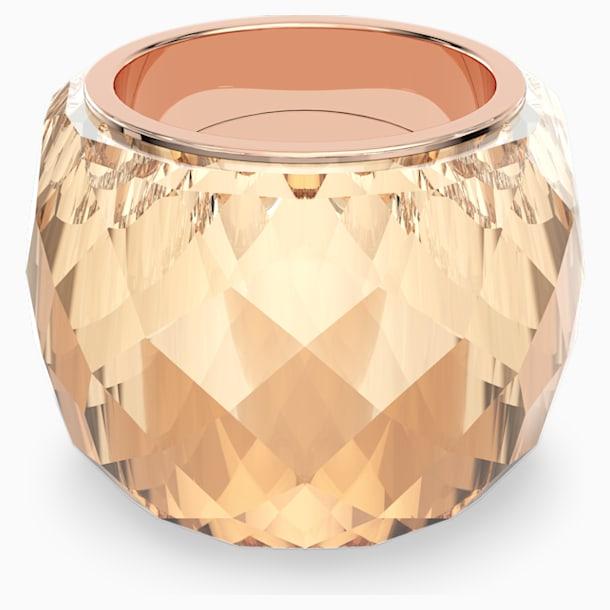 Prsten Swarovski Nirvana, zlatý odstín, pozlacený růžovým zlatem PVD - Swarovski, 5508721