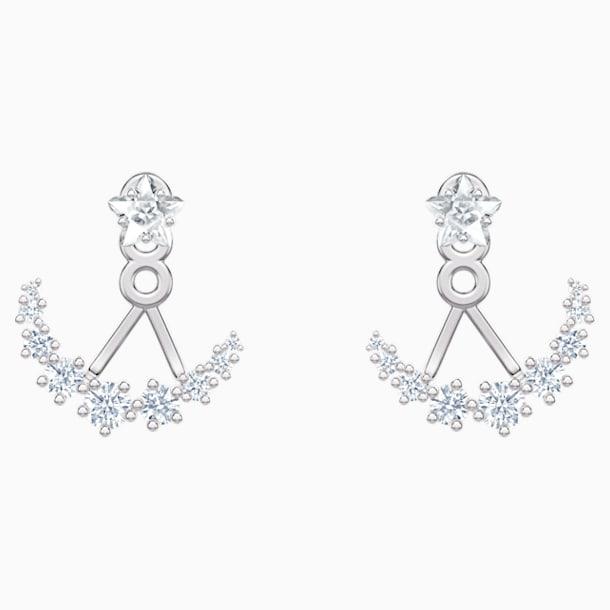 Moonsun Подвески для серёжек, Белый кристалл, Родиевое покрытие - Swarovski, 5508832