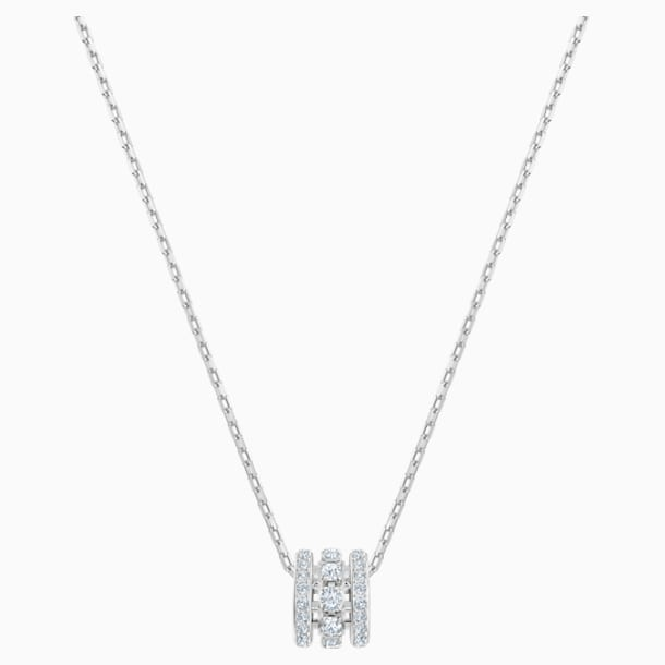 Further Pendant, White, Rhodium plated - Swarovski, 5509400