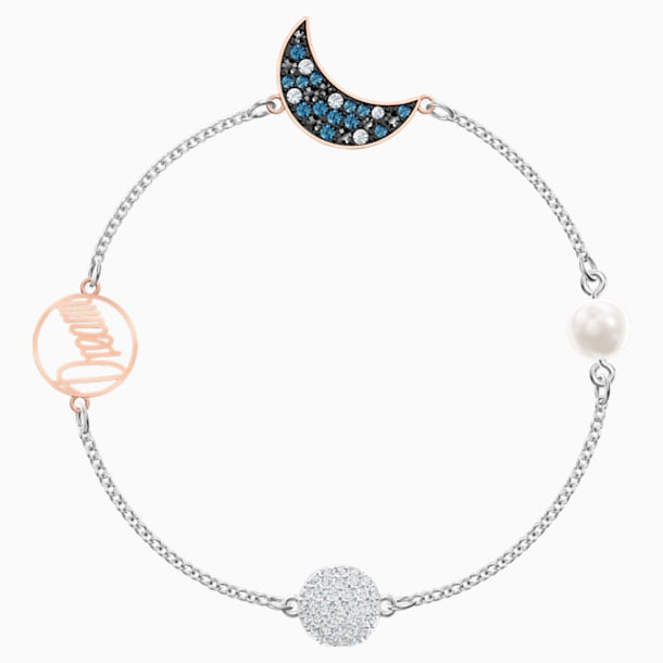 Swarovski Remix Collection Moon Strand, Multi-colored, Mixed metal finish - Swarovski, 5509672