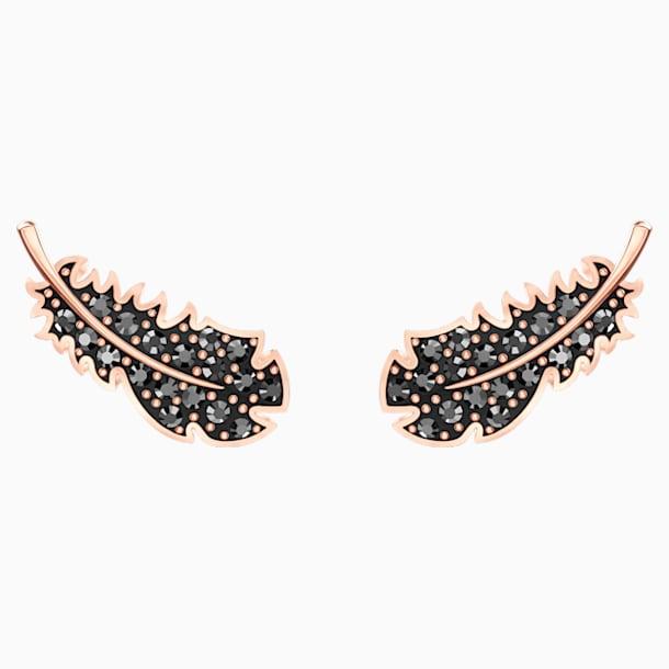 Naughty Серьги, Черный Кристалл, Покрытие оттенка розового золота - Swarovski, 5509722