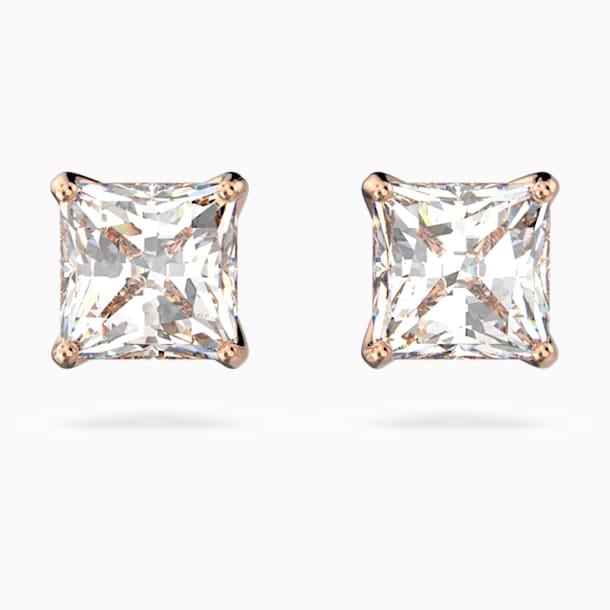 Boucles d'oreilles Attract, blanc, métal doré rose - Swarovski, 5509935
