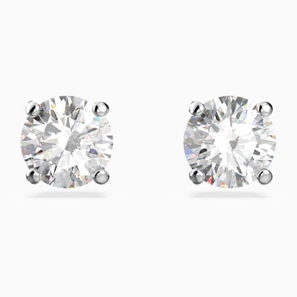 Τρυπητά σκουλαρίκια καρφιά Attract, λευκά, επιροδιωμένα - Swarovski, 5509937