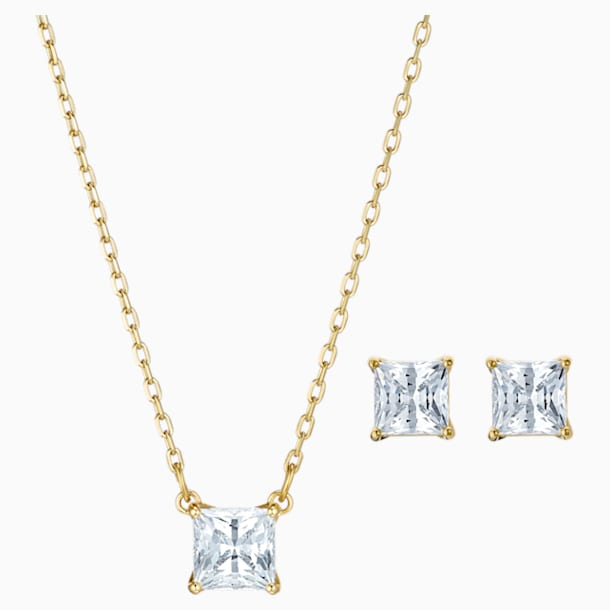 Set Attract, bianco, Placcato oro - Swarovski, 5510683