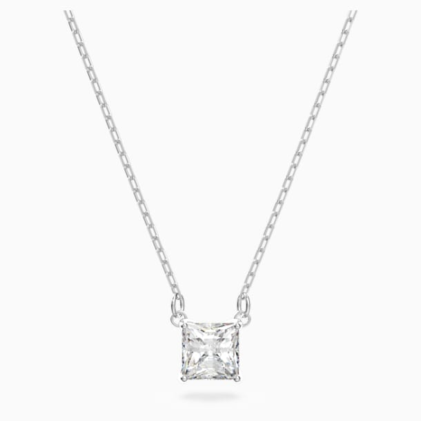 Attract Necklace, White, Rhodium plated - Swarovski, 5510696