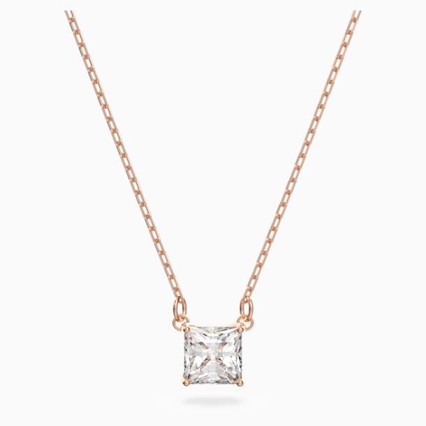 Attract nyaklánc, fehér színű, rózsaarany tónusú bevonattal - Swarovski, 5510698